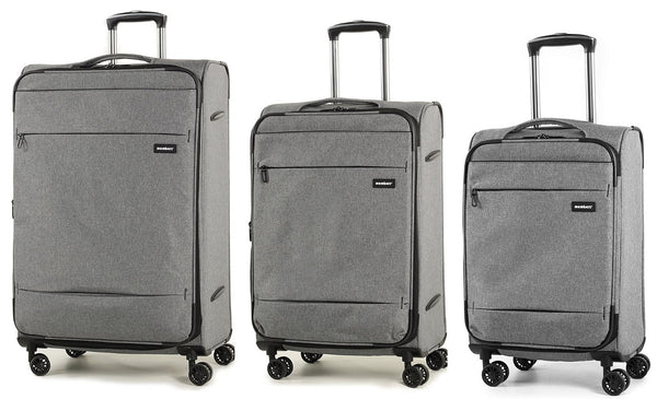 Members Beaufort Lightweight Expandable Four Wheel Spinner Suitcase Luggage