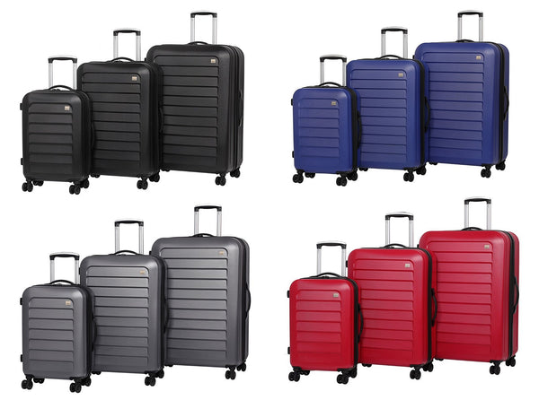 Members Chevron Hard Shell Expandable Four Wheel Spinner Suitcase Range