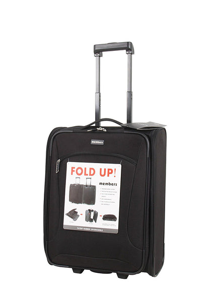 Members Flatpack 55cm Ryanair Compliant Carry-on Foldable Two Wheel Trolley Suitcase