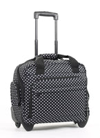 Members On-Board Black & White Polka Lightweight Laptop Case on Wheels