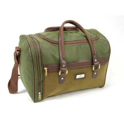 Mens/Womens lightweight suede holdall Gym Cabin Travel Bag Tan / Olive