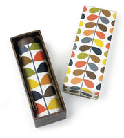 Orla Kiely by Fulton Ladies Gift Box Microslim Umbrella Multi Stem Print