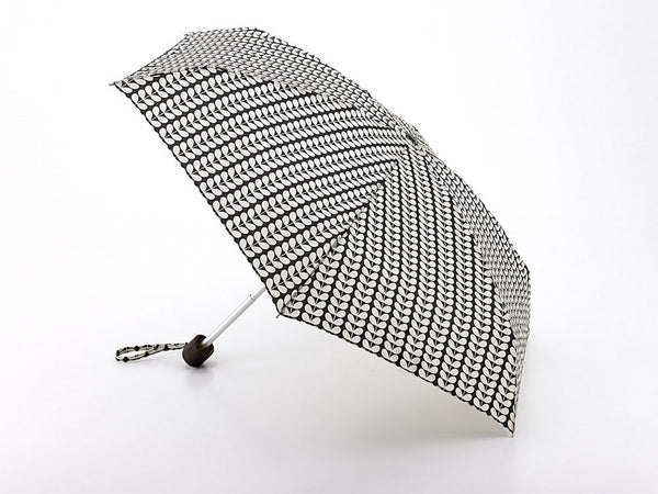 Orla Kiely by Fulton Ladies Tiny-2 Bi-Colour Compact Umbrella Stem Colour Print