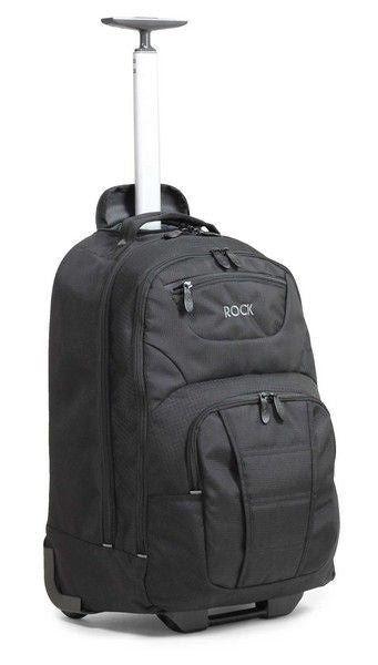 "Rock Carbon Lightweight Strong 17"" Rolling Laptop Backpack Cabin Size"