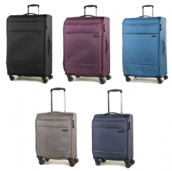 Rock Deluxe-Lite Super Lightweight Expanable Four Wheel Spinner Luggage in Various Colours