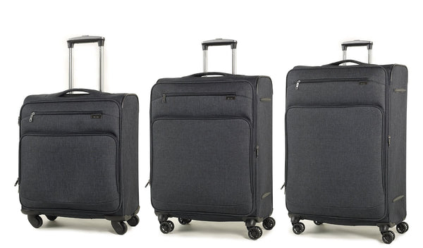 Rock Madison Lightweight Expandable Four Wheel Spinner Suitcase Various Colours