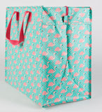 Sass & Belle Tropical Flamingo Storage Bag Shopping Bag Tote Bag