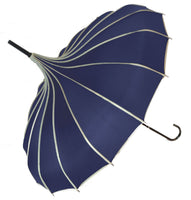 Soake Stunning Classic Ribbed Plain Pagoda Style Long Stick Umbrellas