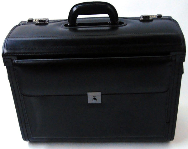 Tassia 19inch Laptop Pilot Case Bonded Leather Doctor Briefcase Flight Cabin Business Bag