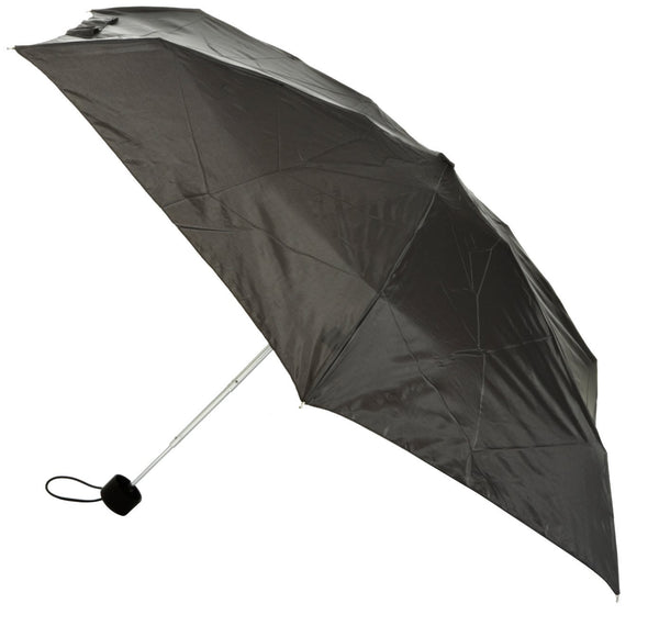 Totes Mini Thin Round Ladies Umbrella Black