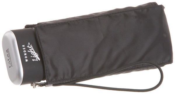 Totes Miniflat 5 Section Thin Umbrella Black