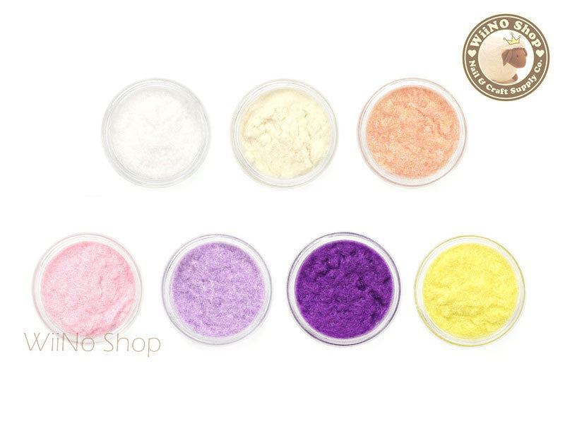 Velvet Flocking Powder Nail Art Decoration - 1 pc (1-7)