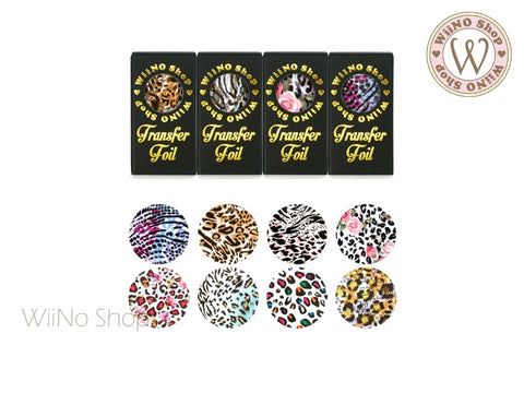 Animal Printed Transfer Foil Nail Art Decoration Set