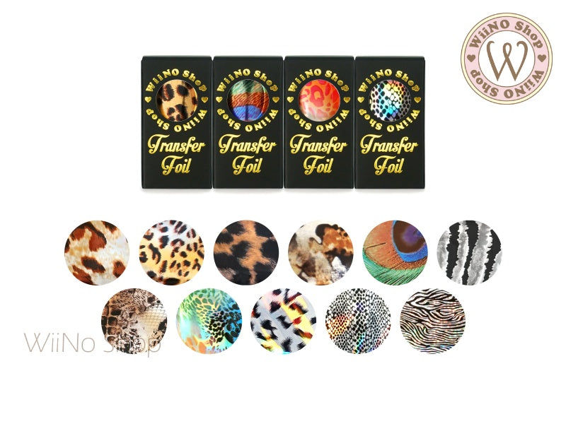 Animal Printed Metallic Transfer Foil Nail Art Decoration