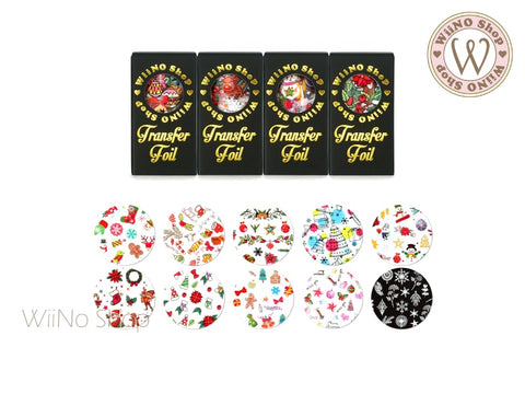 Christmas Transfer Foil Nail Art Decoration Set