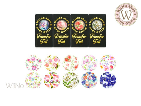 Flower Printed Transfer Foil Nail Art Decoration (B)