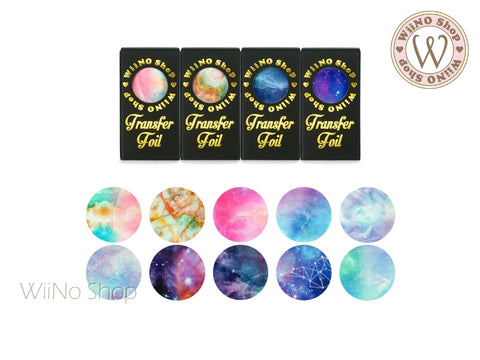 Galaxy Marble Transfer Foil Nail Art Decoration Set (B)