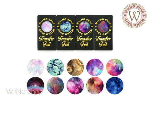Galaxy Marble Transfer Foil Nail Art Decoration Set
