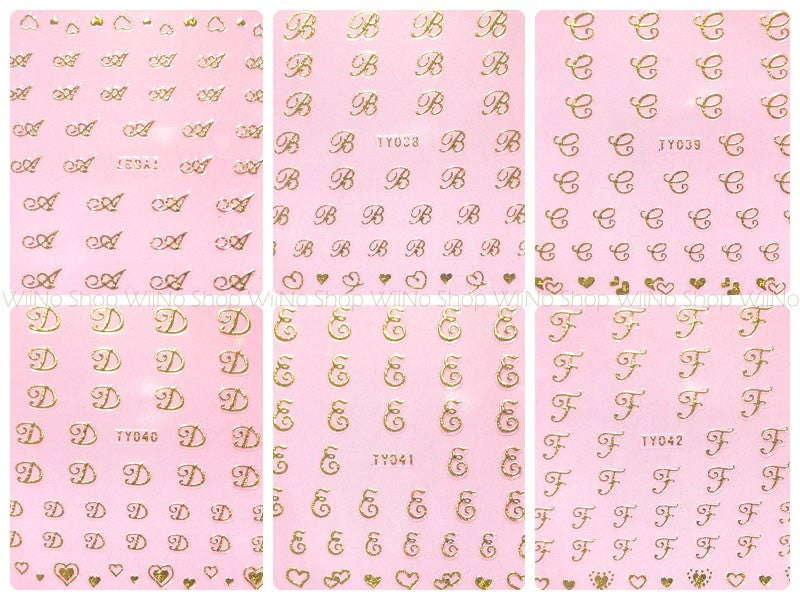 Nail Sticker Letter Wiino Shop
