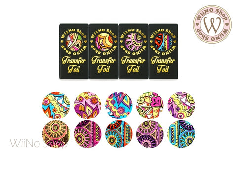 Pucci Colorful Pattern Transfer Foil Nail Art Decoration Set