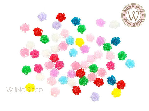 Mini Rose Mixed Color Nail Art Cabochons - 20 pcs
