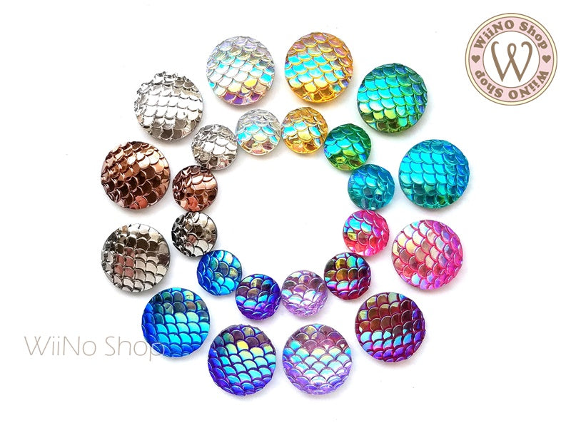 Mermaid Scale Cabochon Rhinestone - 10 pcs