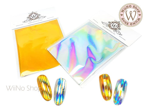 Holographic Transfer Foil Sheet Nail Art Decoration - 1 pc