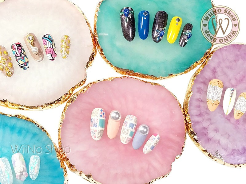Agate Style Nail Tips Display Art Palette – WiiNo Shop