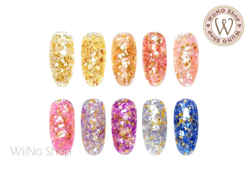 Color Foil Crushed Shell Nail Art Decoration