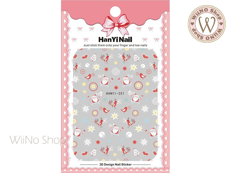 Santa Claus Adhesive Nail Art Sticker - 1 pc (HY-251)