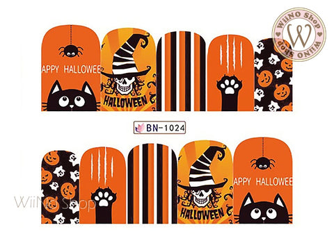 Halloween Water Slide Nail Art Decals - 1pc (BN-1024)