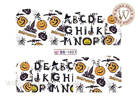 Halloween Water Slide Nail Art Decals - 1pc (BN-1027)