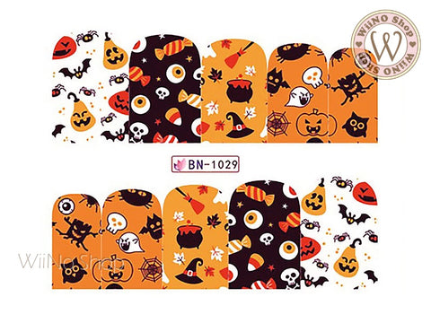 Halloween Water Slide Nail Art Decals - 1pc (BN-1029)