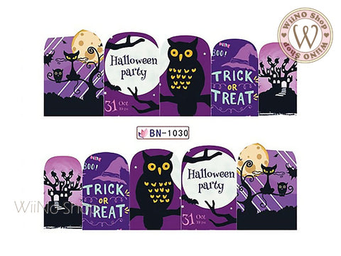 Halloween Water Slide Nail Art Decals - 1pc (BN-1030)