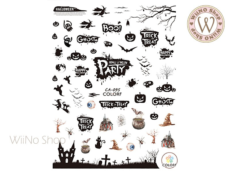 Halloween Adhesive Nail Art Sticker - 1 pc (CA-095)
