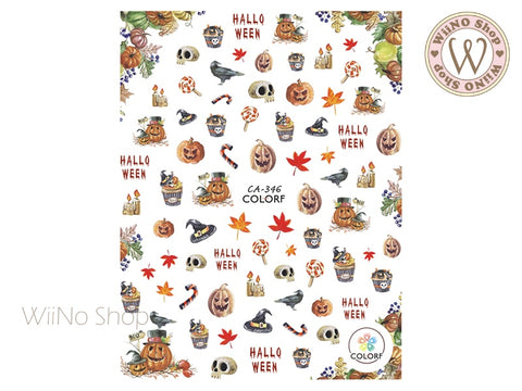 Halloween Adhesive Nail Art Sticker - 1 pc (CA-346)