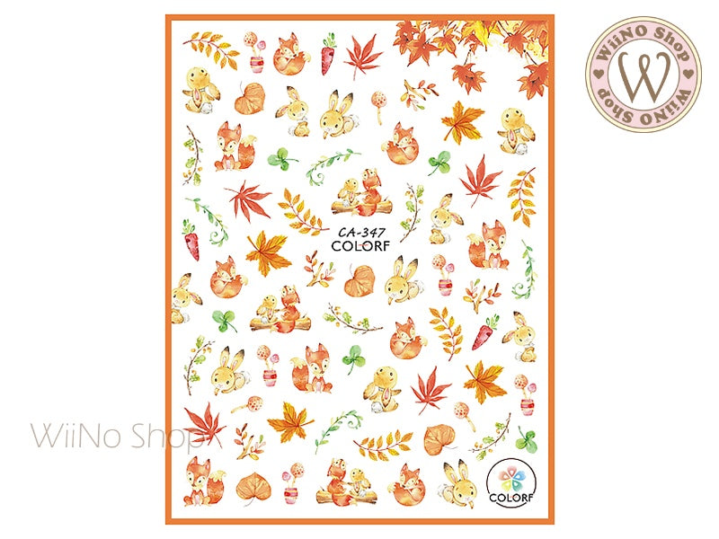 Autumn Forest Adhesive Nail Art Sticker - 1 pc (CA-347)