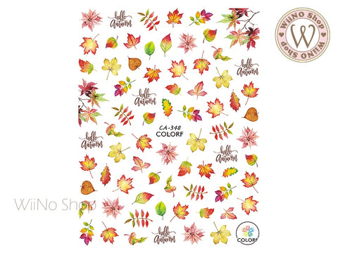 Autumn Maple Adhesive Nail Art Sticker - 1 pc (CA-348)