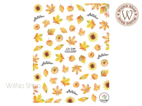 Autumn Maple Adhesive Nail Art Sticker - 1 pc (CA-349)