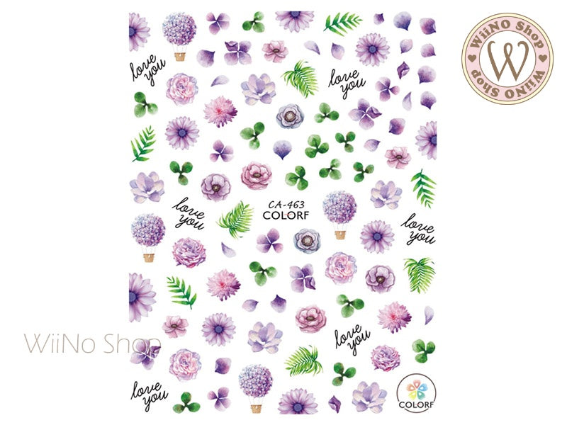 Flower Garden Adhesive Nail Art Sticker - 1 pc (CA-463)