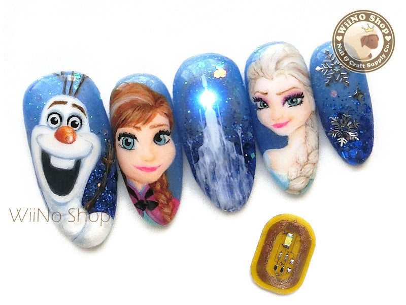 NFC LED Light Nail Art Sticker  - 1 pc