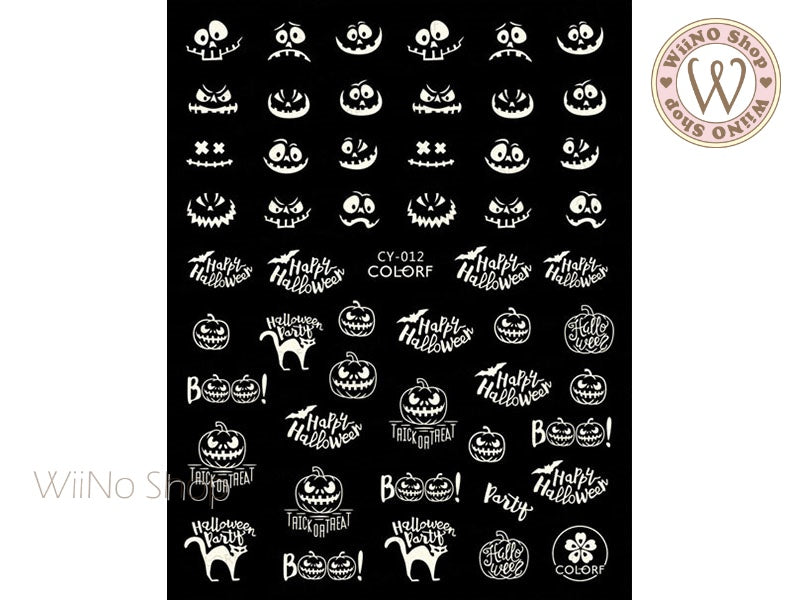 Glow in the Dark Halloween Adhesive Nail Art Sticker - 1 pc (CY-012)
