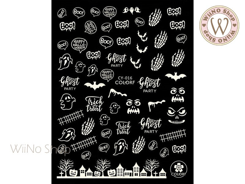 Glow in the Dark Halloween Adhesive Nail Art Sticker - 1 pc (CY-016)