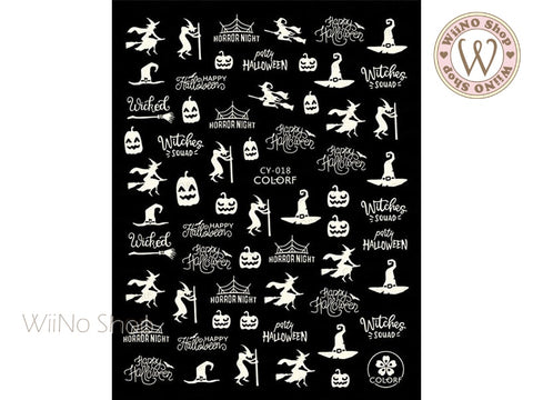 Glow in the Dark Halloween Adhesive Nail Art Sticker - 1 pc (CY-018)