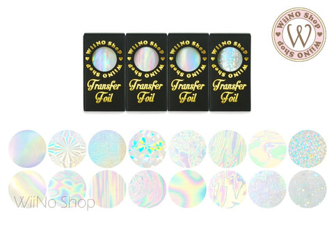 Clear Holographic Transfer Foil Nail Art Decoration