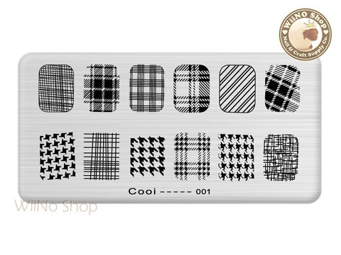 Cooi-001 Nail Art Stamping Plate Template