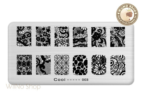 Cooi-003 Nail Art Stamping Plate Template
