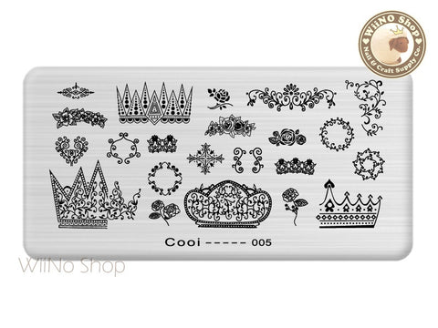 Cooi-005 Nail Art Stamping Plate Template