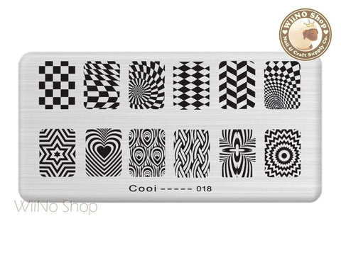 Cooi-018 Nail Art Stamping Plate Template