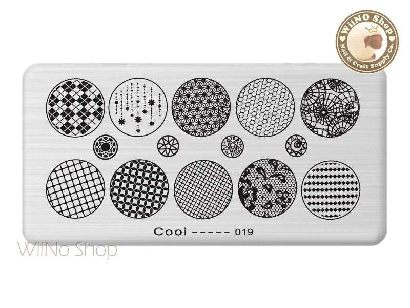 Cooi-019 Nail Art Stamping Plate Template